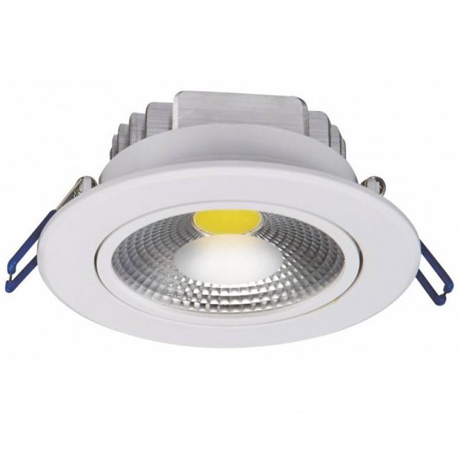 NOWODVORSKI 6972 | Ceiling-COB Nowodvorski zabudovateľné svietidlo sklápacie Ø105mm 1x LED 780lm 3000K biela