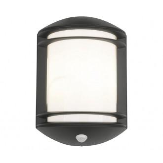 NOWODVORSKI 7016 | Quartz Nowodvorski stenové svietidlo pohybový senzor 1x E27 IP21 čierna, biela
