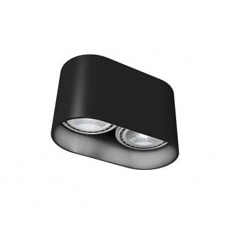 NOWODVORSKI 9240 | OvalN Nowodvorski stropné svietidlo 2x GU10 / ES111 čierna
