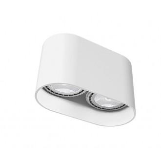 NOWODVORSKI 9241 | OvalN Nowodvorski stropné svietidlo 2x GU10 / ES111 biela