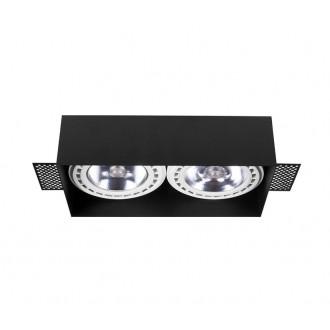 NOWODVORSKI 9403 | Mod_Plus Nowodvorski zabudovateľné - zapustené svietidlo 230x116mm 2x GU10 / ES111 čierna
