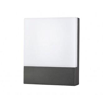 NOWODVORSKI 9422 | Flat Nowodvorski stenové svietidlo 1x LED 350lm 3000K IP54 grafit, biela