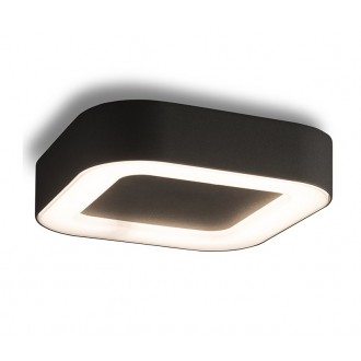 NOWODVORSKI 9513 | Puebla Nowodvorski stropné svietidlo 1x LED 538lm 3000K IP54 grafit, biela