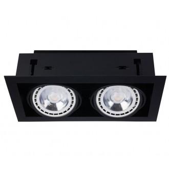 NOWODVORSKI 9570 | Downlight Nowodvorski zabudovateľné - zapustené svietidlo otáčateľný svetelný zdroj 190x354mm 2x GU10 / ES111 čierna