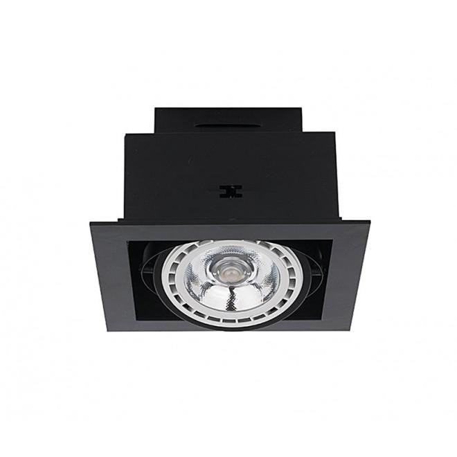 NOWODVORSKI 9571 | Downlight Nowodvorski zabudovateľné - zapustené svietidlo otáčateľný svetelný zdroj 190x190mm 1x GU10 / ES111 sivé