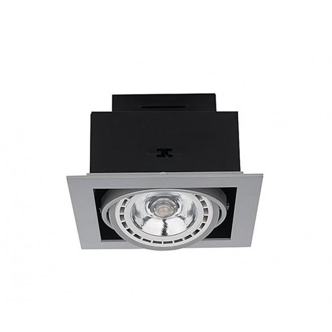 NOWODVORSKI 9573 | Downlight Nowodvorski zabudovateľné - zapustené svietidlo otáčateľný svetelný zdroj 190x190mm 1x GU10 / ES111 sivé