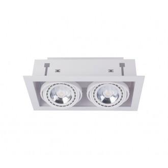 NOWODVORSKI 9574 | Downlight Nowodvorski zabudovateľné - zapustené svietidlo otáčateľný svetelný zdroj 190x354mm 2x GU10 / ES111 biela