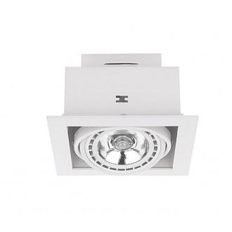 NOWODVORSKI 9575 | Downlight Nowodvorski zabudovateľné - zapustené svietidlo otáčateľný svetelný zdroj 190x190mm 1x GU10 / ES111 biela