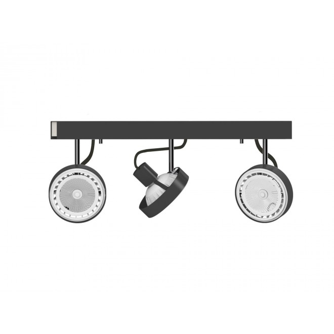 NOWODVORSKI 9596 | Cross Nowodvorski stenové, stropné svietidlo otočné prvky 3x GU10 / ES111 grafit, biela