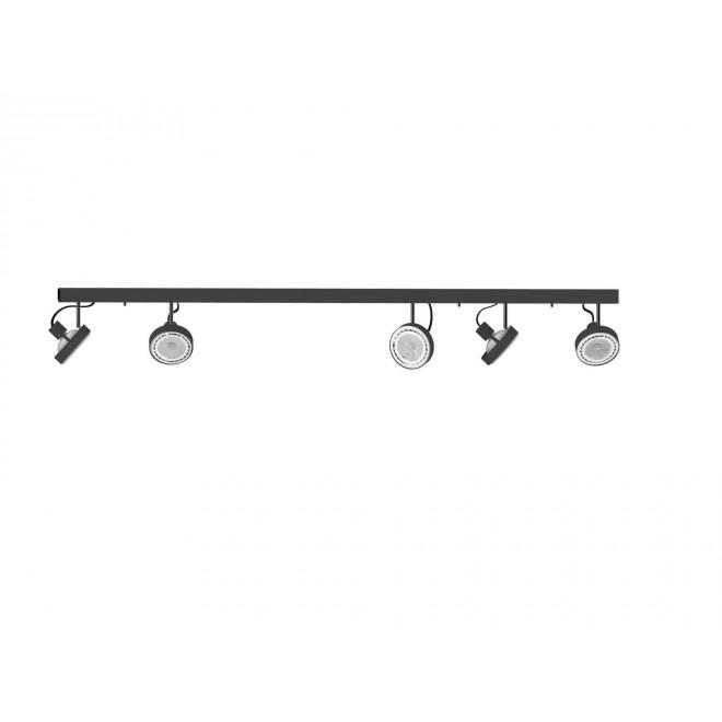NOWODVORSKI 9600   Cross Nowodvorski stenové, stropné svietidlo otočné prvky 5x GU10 / ES111 grafit, biela