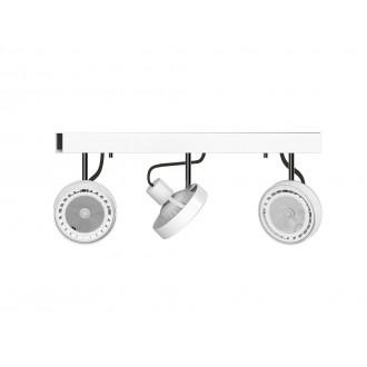 NOWODVORSKI 9601 | Cross Nowodvorski stenové, stropné svietidlo otočné prvky 3x GU10 / ES111 biela, grafit