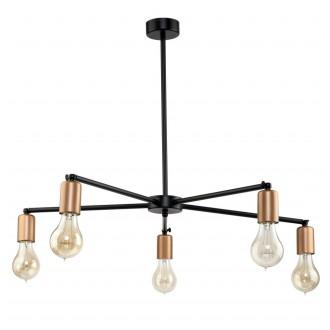NOWODVORSKI 9735 | Sticks Nowodvorski luster svietidlo otočné prvky 5x E27 čierna, mosadz