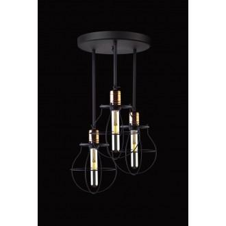 NOWODVORSKI 9740 | Manufacture Nowodvorski stropné svietidlo otočné prvky 3x E27 čierna, mosadz