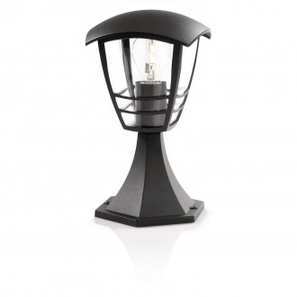 PHILIPS 15382/30/16 | CreekP Philips stojaté svietidlo 30cm 1x E27 IP44 čierna