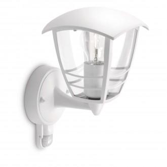 PHILIPS 15388/31/16 | CreekP Philips stenové svietidlo pohybový senzor 1x E27 IP44 biela
