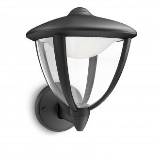 PHILIPS 15470/30/16 | Robin Philips stenové svietidlo 1x LED 430lm 2700K IP44 čierna, biela, priesvitné