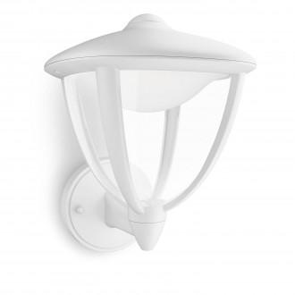 PHILIPS 15470/31/16 | Robin Philips stenové svietidlo 1x LED 430lm 2700K IP44 biela, priesvitné