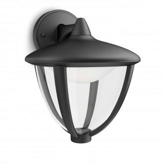 PHILIPS 15471/30/16 | Robin Philips stenové svietidlo 1x LED 430lm 2700K IP44 čierna, biela, priesvitné