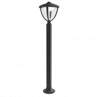 PHILIPS 15473/30/16 | Robin Philips stojaté svietidlo 85,5cm 1x LED 430lm 2700K IP44 čierna, biela, priesvitné
