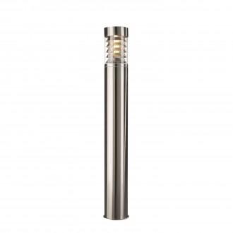 PHILIPS 16192/47/10 | Birmingham Philips stojaté svietidlo 79,5cm navrhované na úsporné žiarovky 1x E27 IP44 nerez, priesvitné