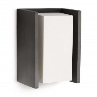 PHILIPS 16351/93/16 | Bridge Philips stenové svietidlo 1x E27 970lm 2700K IP44 antracitová sivá