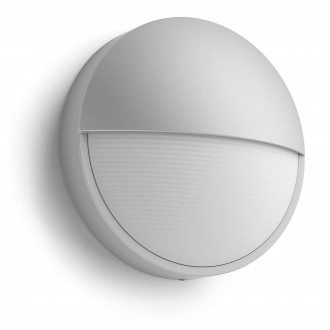 PHILIPS 16455/87/16 | Capricorn Philips stenové svietidlo 1x LED 600lm 2700K IP44 sivé, biela