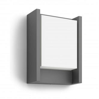 PHILIPS 16460/93/P3 | Arbour Philips stenové svietidlo 1x LED 600lm 4000K IP44 antracit, biela