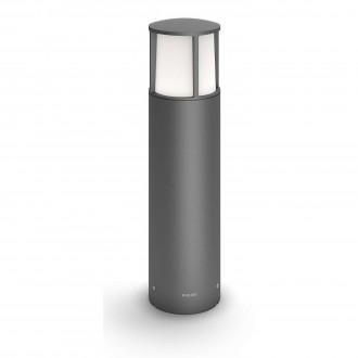 PHILIPS 16466/93/16 | Stock Philips stojaté svietidlo 40cm 1x LED 600lm 2700K IP44 antracit, biela