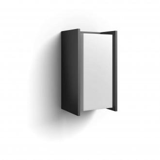PHILIPS 16472/93/P0 | PHILIPS-hue-Turaco Philips rameno stenové hue múdre osvetlenie regulovateľná intenzita svetla 1x E27 806lm 2700K IP44 antracitová sivá
