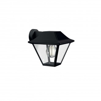 PHILIPS 16495/30/PN | Alpenglow Philips stenové svietidlo 1x E27 IP44 čierna, priesvitné