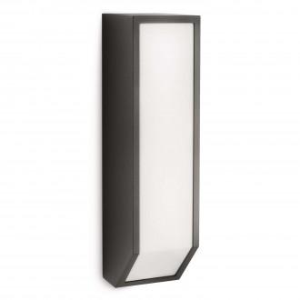 PHILIPS 16932/93/16 | Feather Philips stenové svietidlo 1x E27 1100lm 2700K IP44 antracitová sivá