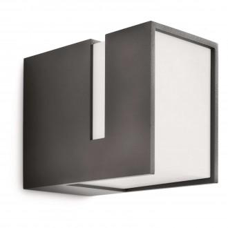PHILIPS 16936/93/16 | Acres Philips stenové svietidlo 1x E27 1320lm 2700K IP44 antracitová sivá