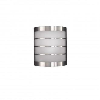 PHILIPS 17173/47/10 | CalgaryP1 Philips stenové svietidlo navrhované na úsporné žiarovky 1x E14 IP44 nerez, biela
