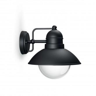 PHILIPS 17237/30/PN | Hoverfly Philips stenové svietidlo 1x E27 IP44 čierna, priesvitné