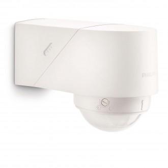 PHILIPS 17266/31/16 | Philips pohybový senzor PIR 360° svetelný senzor - súmrakový spínač otočné prvky IP44 biela