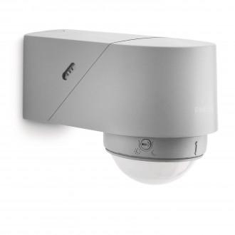 PHILIPS 17266/87/16 | Philips pohybový senzor PIR 360° svetelný senzor - súmrakový spínač otočné prvky IP44 svetlo šedá