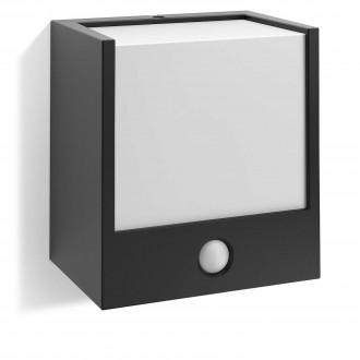 PHILIPS 17317/30/16 | Macaw Philips stenové svietidlo pohybový senzor 1x LED 320lm 2700K IP44 čierna, biela