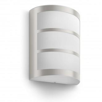 PHILIPS 17323/47/16 | Python Philips stenové svietidlo 1x LED 600lm 2700K IP44 nerez, biela