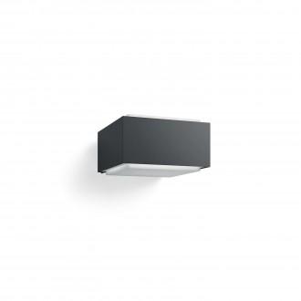 PHILIPS 17337/93/PN | Hedgehog Philips stenové svietidlo štvoruholník 1x E27 IP44 antracitová sivá, biela