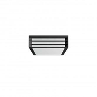 PHILIPS 17350/93/PN | Moonshine Philips stenové svietidlo štvorec 2x E27 IP44 antracitová sivá, biela