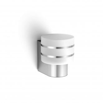 PHILIPS 17404/47/P0 | PHILIPS-hue-Tuar Philips rameno stenové hue múdre osvetlenie regulovateľná intenzita svetla 1x E27 806lm 2700K IP44 nerez, biela