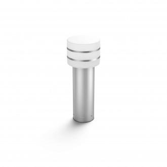 PHILIPS 17405/47/P0 | PHILIPS-hue-Tuar Philips stojaté hue múdre osvetlenie 40cm regulovateľná intenzita svetla 1x E27 806lm 2700K IP44 nerez, biela