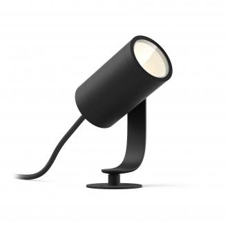 PHILIPS 17415/30/P7 | PHILIPS-hue-Lily Philips zapichovacie 24V EXT. hue múdre osvetlenie regulovateľná intenzita svetla, nastaviteľná farebná teplota, meniace farbu 1x LED 640lm 2700 <-> 6500K IP65 čierna