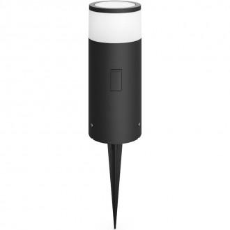 PHILIPS 17420/93/P7 | PHILIPS-hue-Calla Philips stojaté hue múdre osvetlenie 25,2cm regulovateľná intenzita svetla, nastaviteľná farebná teplota, meniace farbu 1x LED 640lm 2200 <-> 6500K IP65 antracitová sivá, biela