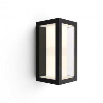 PHILIPS 17429/30/P7 | PHILIPS-hue-Impress Philips stenové hue múdre osvetlenie štvoruholník regulovateľná intenzita svetla, nastaviteľná farebná teplota, meniace farbu 2x LED 1200lm 2700 <-> 6500K IP44 čierna, priesvitné, biela