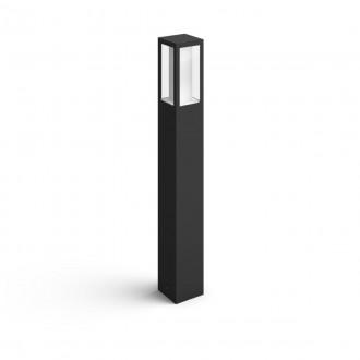 PHILIPS 17432/30/P7 | PHILIPS-hue-Impress Philips stojaté hue múdre osvetlenie štvoruholník 77cm regulovateľná intenzita svetla, nastaviteľná farebná teplota, meniace farbu 2x LED 1200lm 2700 <-> 6500K IP44 čierna, biela