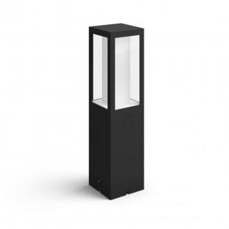 PHILIPS 17434/30/P7 | PHILIPS-hue-Impress Philips stojaté 24V EXT. hue múdre osvetlenie štvoruholník 40cm regulovateľná intenzita svetla, nastaviteľná farebná teplota, meniace farbu 2x LED 1200lm 2700 <-> 6500K IP44 čierna, biela