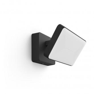 PHILIPS 17435/30/P7 | PHILIPS-hue-Discover Philips svetlomet hue múdre osvetlenie štvoruholník regulovateľná intenzita svetla, nastaviteľná farebná teplota, meniace farbu 2x LED 2300lm 2700 <-> 6500K IP44 čierna, biela