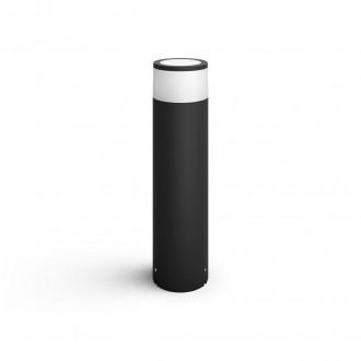 PHILIPS 17437/30/P7 | PHILIPS-hue-Calla Philips stojaté 24V EXT. hue múdre osvetlenie hriadeľ 40cm regulovateľná intenzita svetla, nastaviteľná farebná teplota, meniace farbu 1x LED 600lm 2700 <-> 6500K IP65 čierna, biela