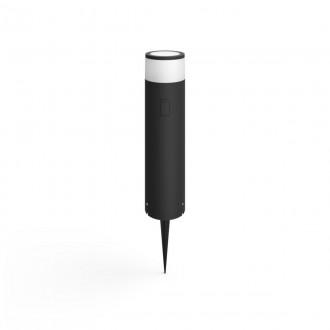 PHILIPS 17451/30/P7 | PHILIPS-hue-Calla Philips stojaté BASE hue múdre osvetlenie + LED napájací zdroj hriadeľ 40cm regulovateľná intenzita svetla, nastaviteľná farebná teplota, meniace farbu 1x LED 600lm 2700 <-> 6500K IP65 čierna, biela